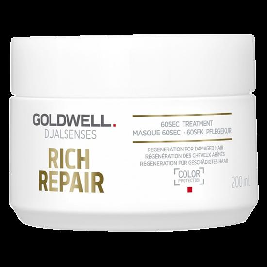 goldwell dualsenses rich repair 60sec treatment 200 ml.