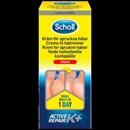 Scholl Creme til hælrevner Active Repair K+ (120 ml)