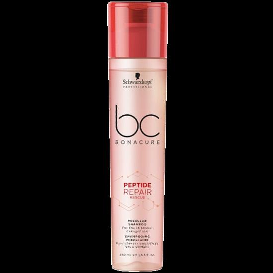 schwarzkopf bc bonacure peptide repair rescue micellar shampoo 250 ml.