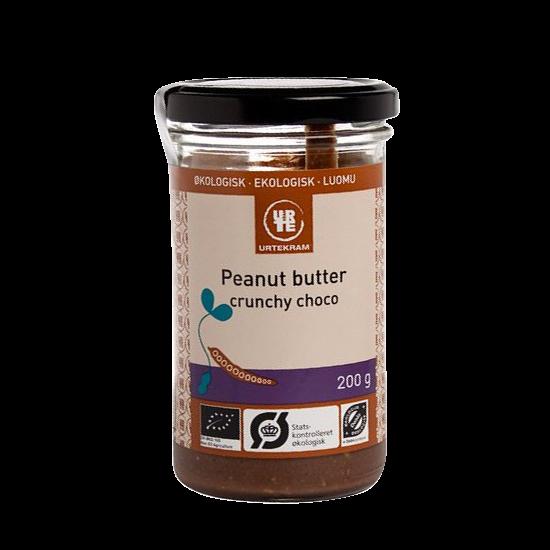 urtekram peanutbutter crunchy choko 200 g